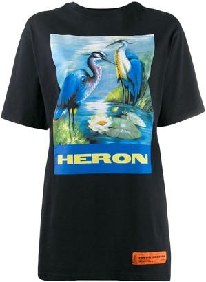 Heron Preston oversized Heron print T-shirt