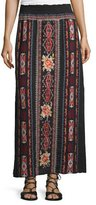 Johnny Was Zona Embroidered Maxi Skirt, Black