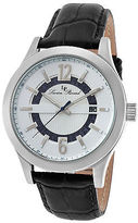 Lucien Piccard 40020-02S Men's Oxford Black Genuine Leather Silver-Tone Dial