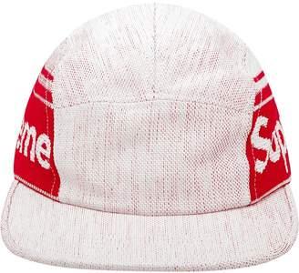 Supreme woven logo camp cap
