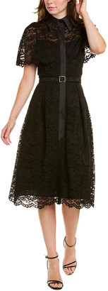 Teri Jon By Rickie Freeman Lace Midi Dress