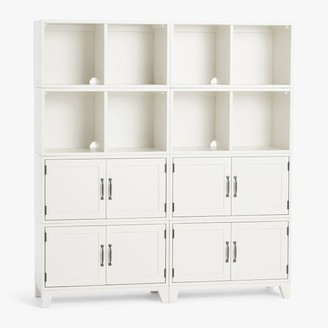 Pottery Barn Teen Hampton Double 2-Shelf Cabinet Storage Tall Bookcase