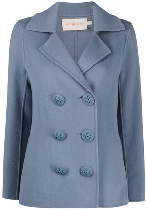 Tory Burch Double-Breasted Tailored Blazer