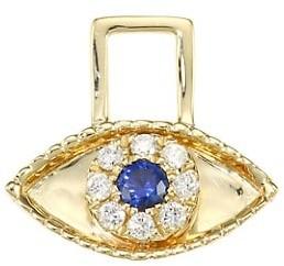 Robinson Pelham EarWish 14K Yellow Gold, Diamond & Blue Sapphire Third Eye Single Earring Charm
