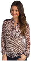 Joe's Jeans Wild Collection Milly Top w/ Sequins (Wine/White) - Apparel