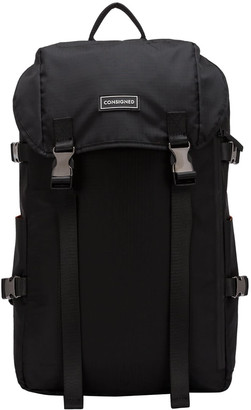 Consigned Torrett Rip-Stop Twin Pocketed Flapover Backpack Black