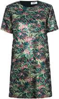 MSGM crew neck floral dress - women - Polyester/Metallic Fibre - 38