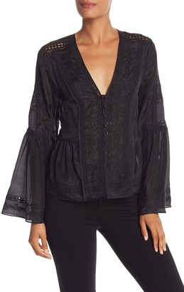 BCBGMAXAZRIA Long Sleeve Bell Blouse