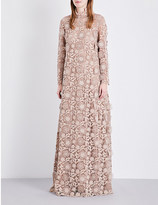 Valentino Floral guipure-lace gown