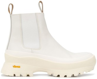 Jil Sander Vibram sole ankle boots