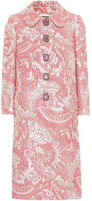 Dolce & Gabbana Metallic silk-blend jacquard coat