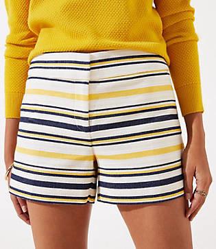 LOFT Petite Striped Riviera Shorts with 3 1/2 Inch Inseam