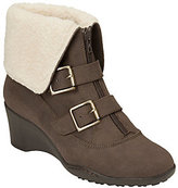Aerosoles A2 Heel Rest Wedge Ankle Boots w/Buckles - Music Tor