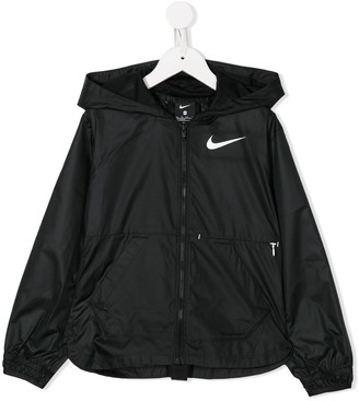 Nike Kids Logo-Print Hooded Jacket