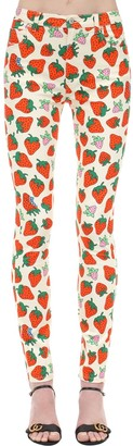 Gucci Printed Stretch Cotton Twill Jeans