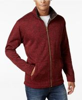 Weatherproof Vintage Men's Big and Tall Heathered Lined Zip Jacket, Classic Fit