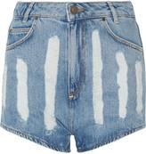 Sandro Peaches distressed denim shorts
