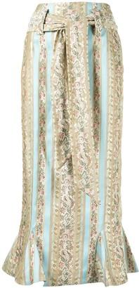 Vaquera Mixed Print High-Waisted Skirt