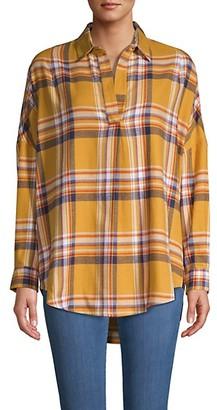 French Connection Plaid Cotton-Blend Shirt
