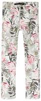 Ikks Grey Floral Print Slim Fit Jeans