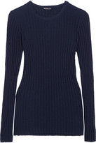 James Perse Ribbed cotton-blend sweater