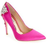 Badgley Mischka Women's 'Gorgeous' Crystal Embellished Pointy Toe Pump