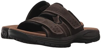 Dunham Newport Slide (Dark Brown) Men's Sandals