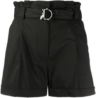 Patrizia Pepe Belted High-Waist Shorts