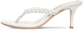 Gianvito Rossi 70mm Braided Leather Thong Sandals