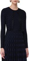 Akris Punto Knit Zip-Front Bolero, Multi