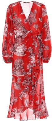 Johanna Ortiz Printed cotton wrap dress