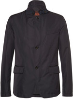 Tod's Suede-Trimmed Shell Blazer