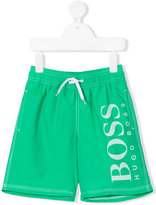 Boss Kids - logo print swim shorts - kids - Polyester - 4 yrs