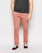 Hollister Chino In Skinny Fit In Salmon