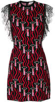 Valentino lipstick knitted mini dress