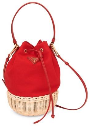Prada Basket & Canapa Bucket Bag