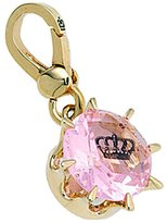 Juicy Couture Pink Solitaire Gem with Embedded Crown Charm