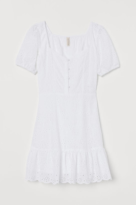 H&M Eyelet Embroidery Dress - White