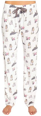 PJ Salvage Playful Prints Sleep Pants (Ivory) Women's Pajama