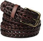Classic Men's Dress Braid Belt-Brown