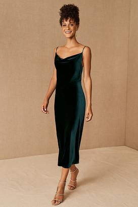 Jenny Yoo Bentley Velvet Dress By in Green Size 0