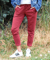 Ambiance Rust Drawstring Joggers