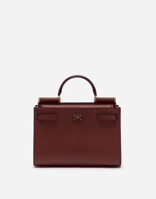 Dolce & Gabbana Medium Sicily 62 Tote Bag In Calfskin And Cashmere Split-Grain Leather