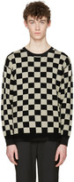 Marc Jacobs Black Check Distressed Sweater