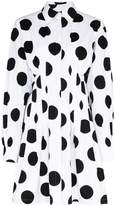 Carolina Herrera Chny Drs Cttn Polka Dot Mini
