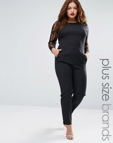 Praslin Plus Jumpsuit With Lace Sleeves