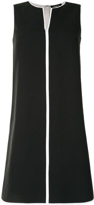 Paule Ka Contrast Piping Mini Dress