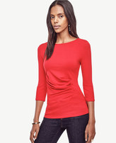 Ann Taylor Ruched Boatneck Top