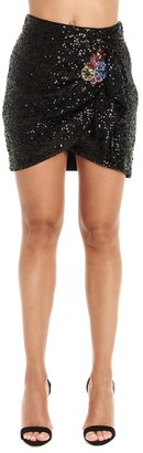 Pinko Jeweled Embroidery Sequined Mini Skirt