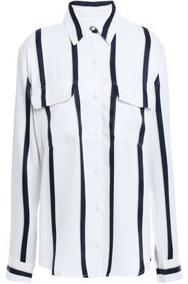 Equipment New Signature Striped Washed-twill Shirt